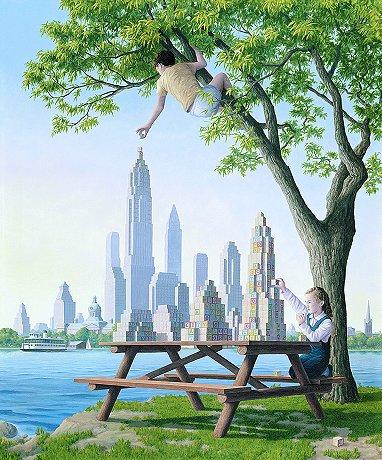 Картины Роба Гонсалвеса Table Top Towers