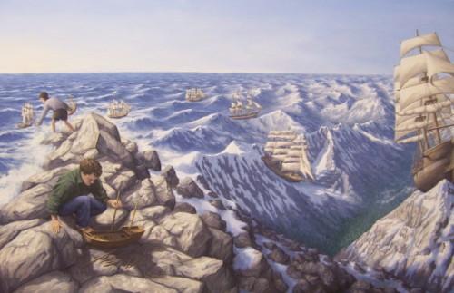 Картины Роберта Гонсалвеса Alpine Navigation