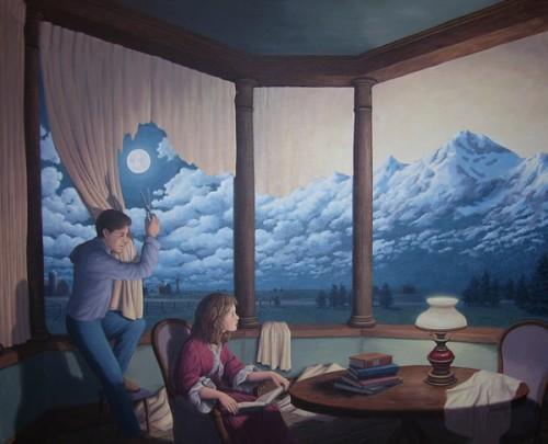 Картины Роберта Гонсалвеса Change of Scenery II (Making Mountains)
